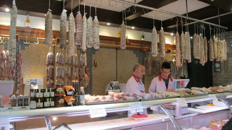 The kind Italian butcher with one of his young employees.
